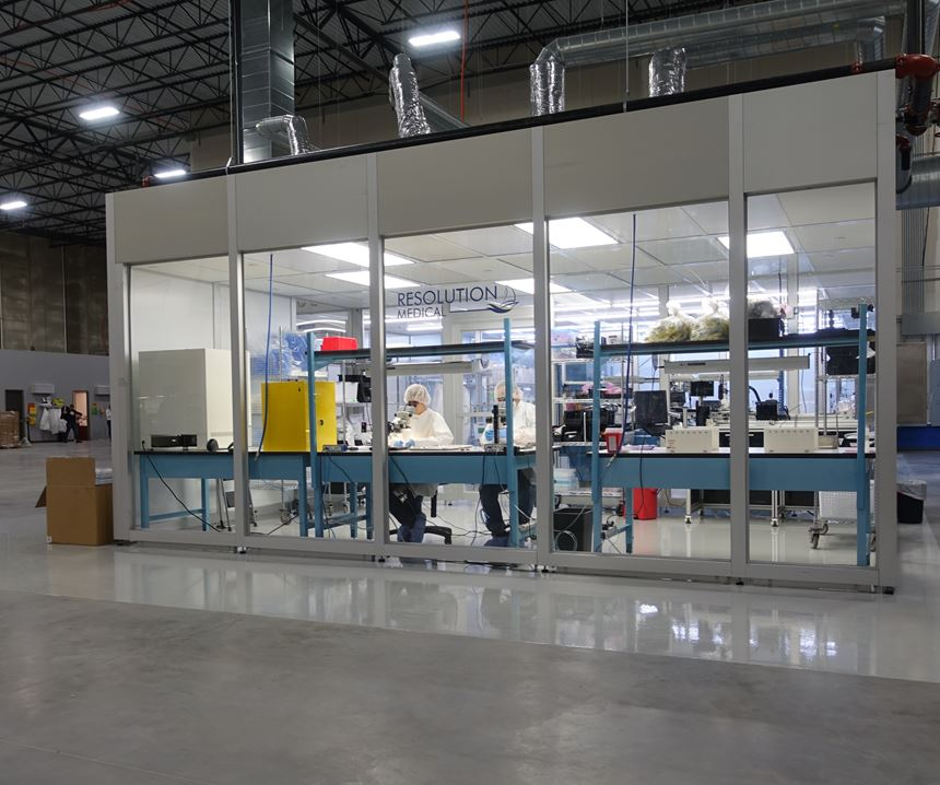 Resolution Medical cleanroom