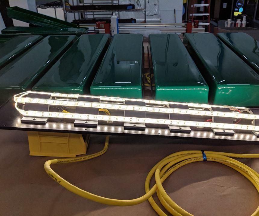 led lights installed on the brackets