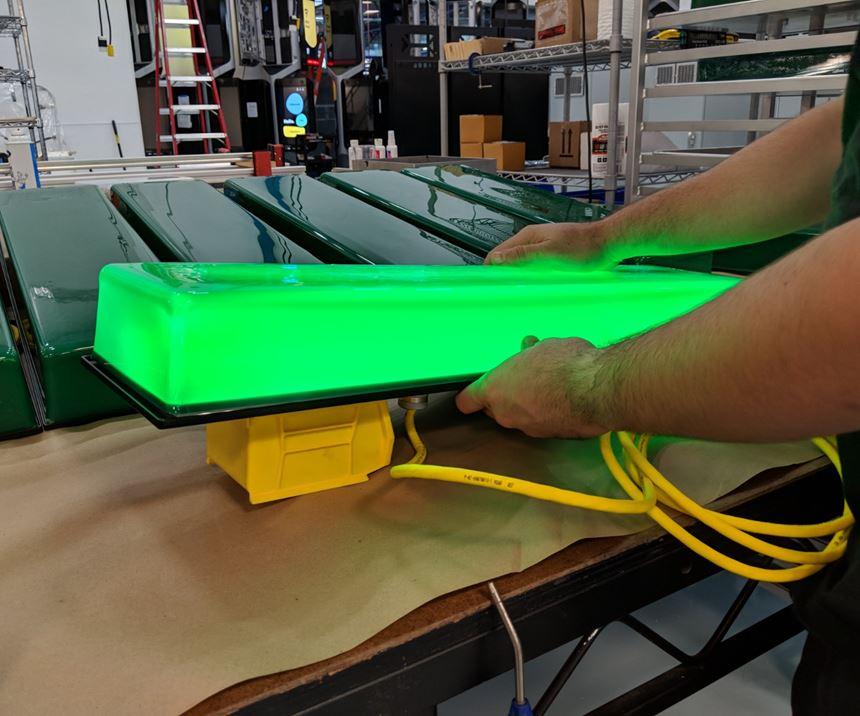 illuminated acrylic cap for communication device