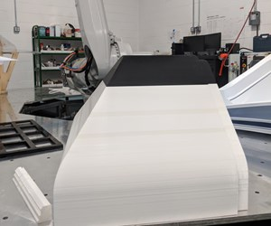 Parts being printed on Boyce Technologies' Big Rep Studio System production 3d printer