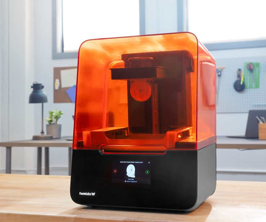 Formlabs Form 3 Low Force Stereolithography (LFS) 3D printer.