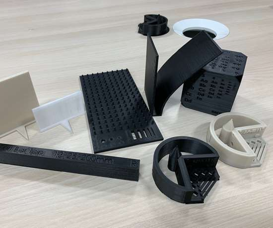 3D-printed parts at Jabil's Additive Materials Center in Chaska, Minnesota