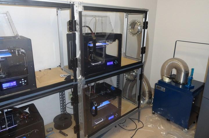3D printer farm after ventilation