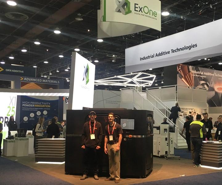 catalysis Additive Tooling team in front of ExOne X1 25Pro machine during Rapid + TCT 2019