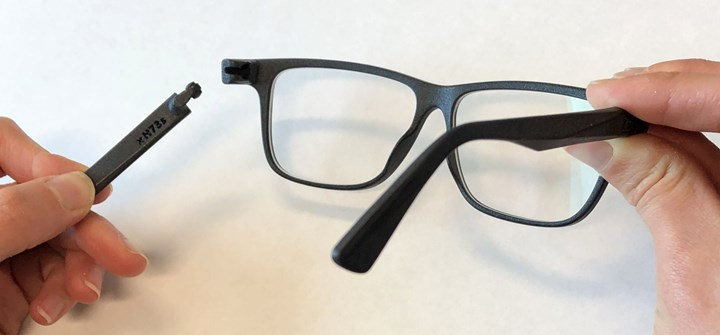 Fitz Frames glasses with snap fit hinge
