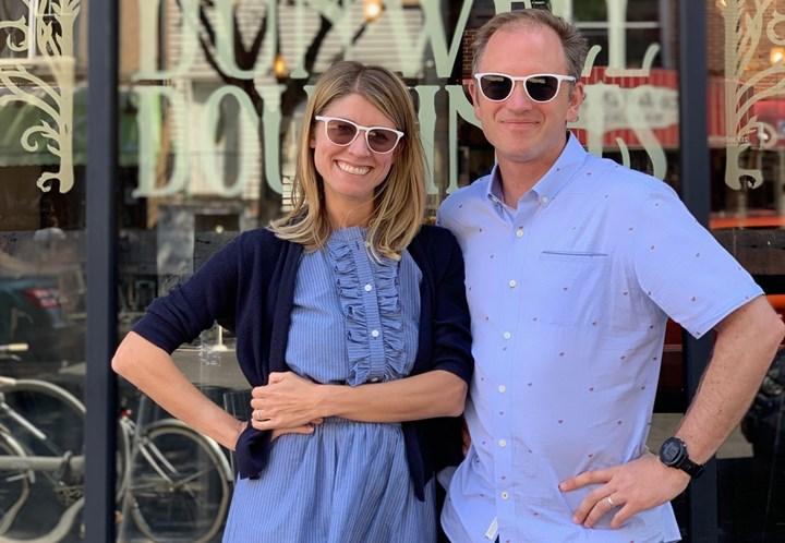 Heidi Hertel and Gabe Schlumberger, cofounders, Fitz Frames