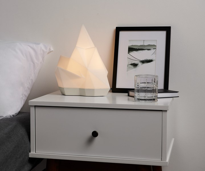3d printed luxury lamp on a nightstand