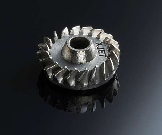stainless steel part made with NanoParticle Jetting