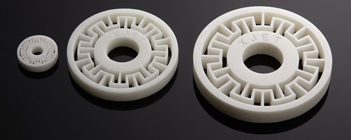 Ceramic parts made with NPJ