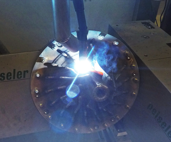Shielding gases such as argon, helium or special gas mixtures are applied in electric arc welding