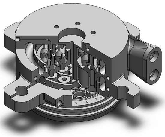 Metal 3D-printed injector head for a liquid oxygen/kerosine engine