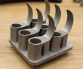 Blades made by metal additive manufacturing for acetabular cup cutters for hip and knee replacement surgeries