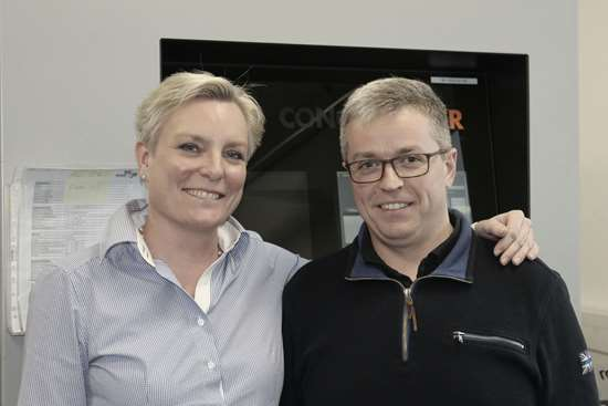Martin Weber with AM editor Barbara Schulz