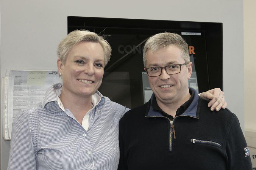 Martin Weber with AM editor Barbara Schulz