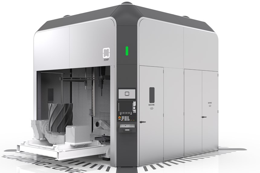 The arc605 five-axis machining center allows for the production of metal components up to a size of 0.8 square meters and 500 kg