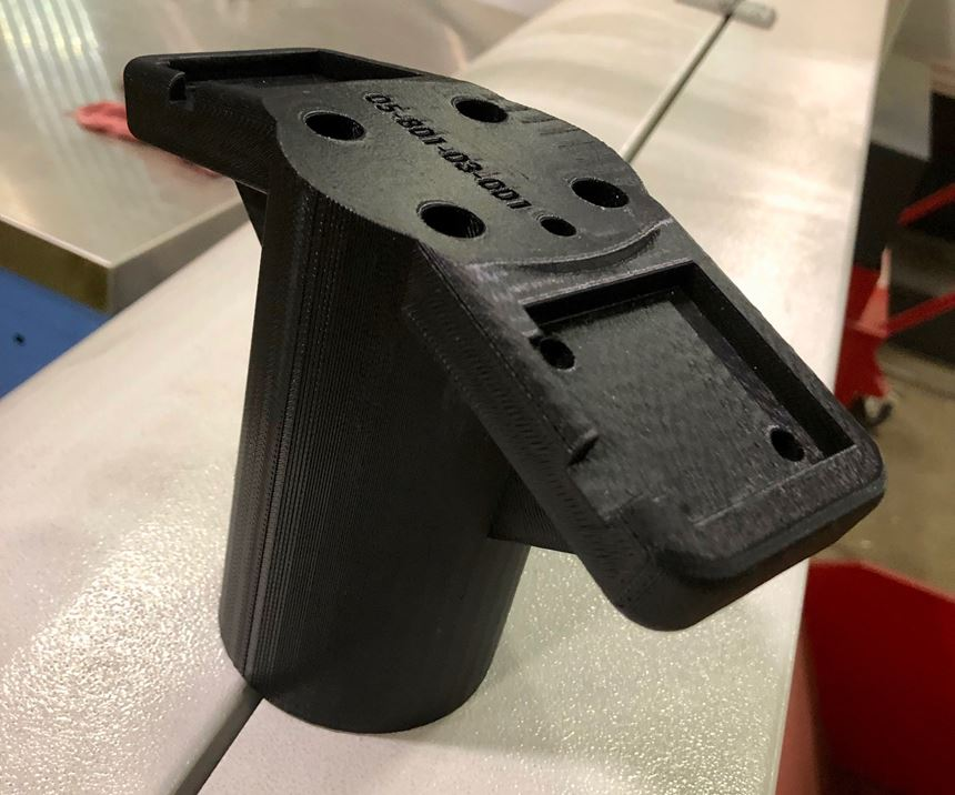 Cobot coupling part 3D printed at Bilstein