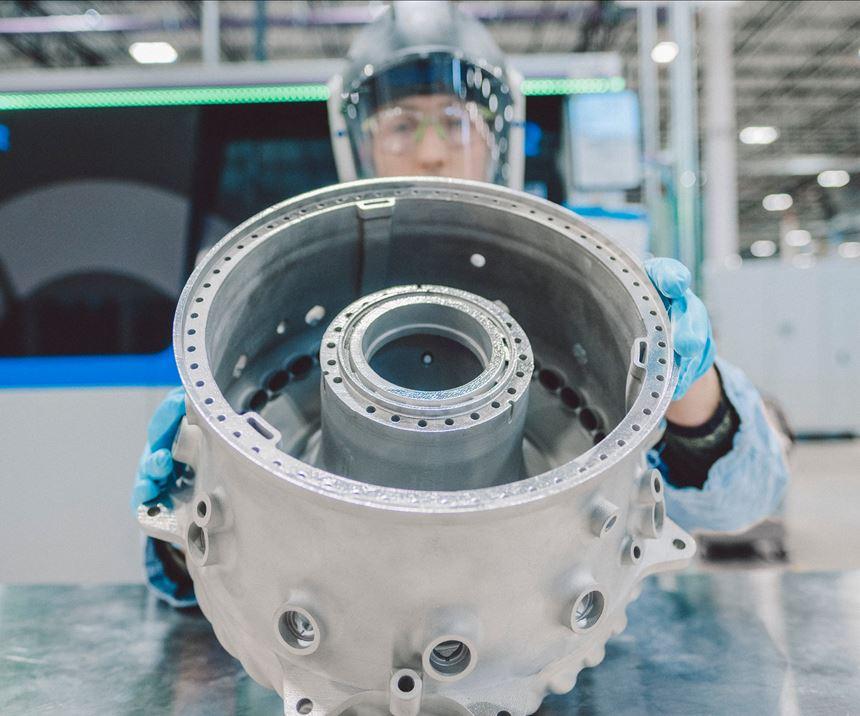 additive manufacturing aerospace GE catalyst midframe