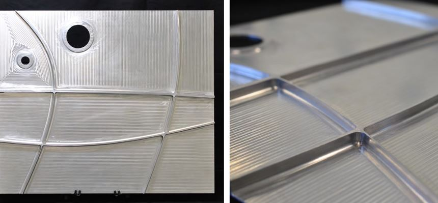 part with ribs added via friction stir welding
