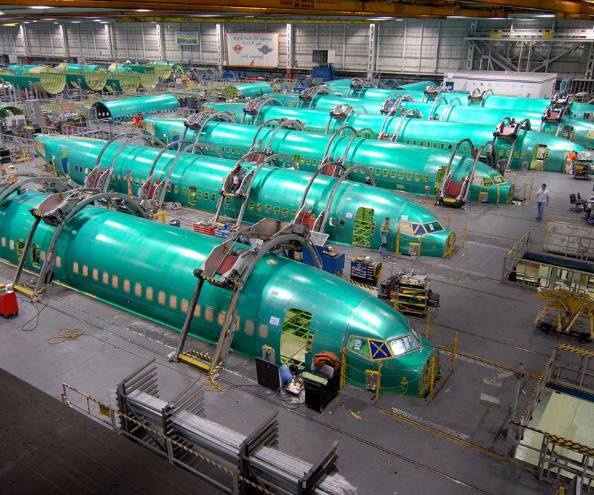 737 fuselage manufacturing at Spirit AeroSystems in Wichita