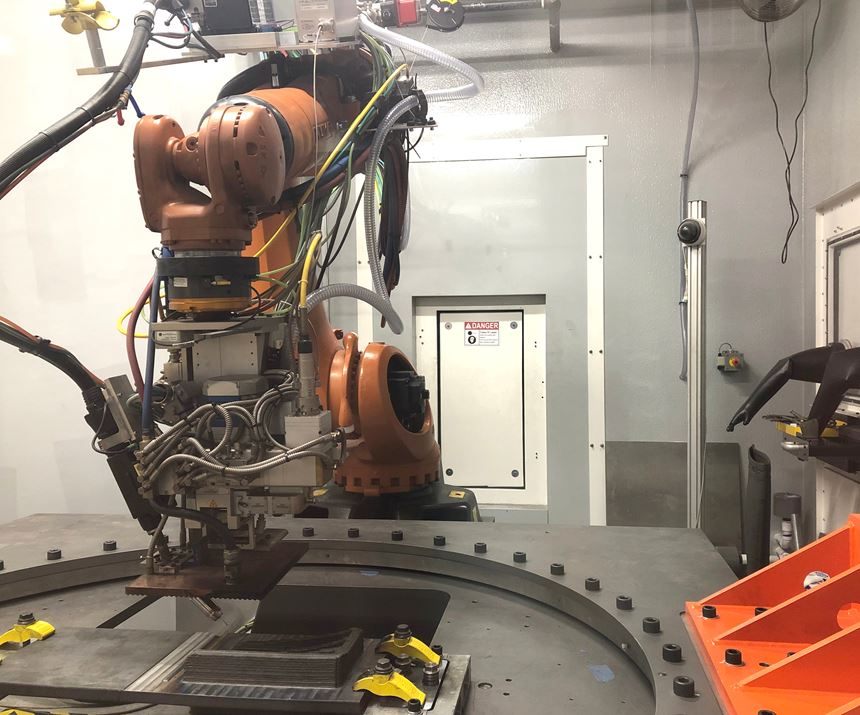 robot-based additive manufacturing system at Addere