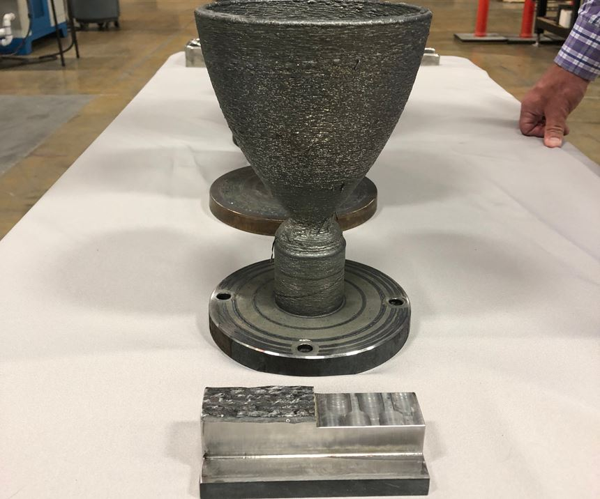 sacrificial material made for testing with addere metal additive manufacturing