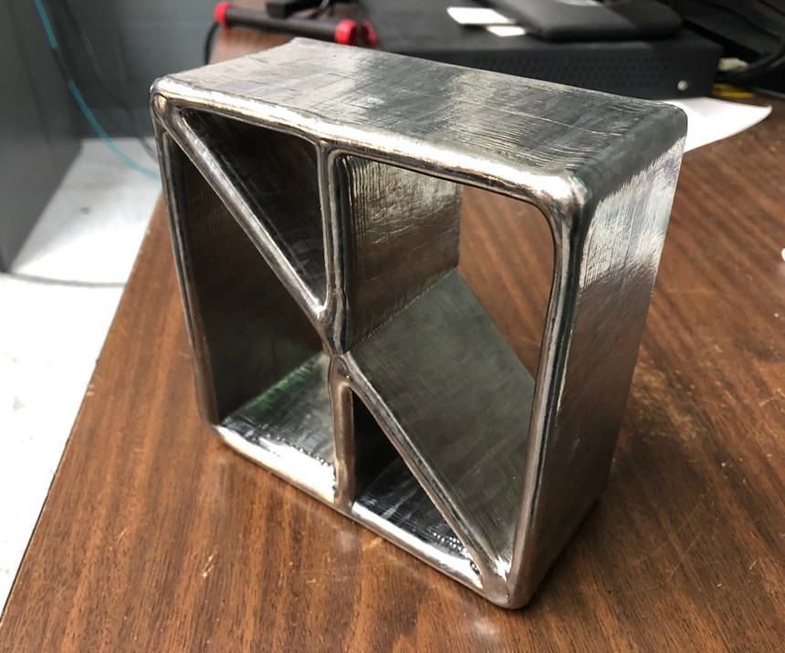 smooth surface made via metal 3D printing