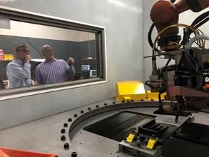 Addere president Scott Woida and Peter Zelinski of Additive Manufacturing Media