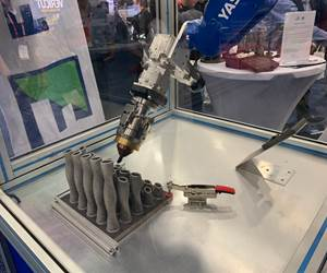 Robot Is Production Solution for Laser Metal Deposition