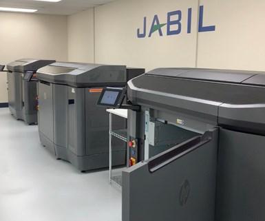 HP 3D printers at Jabil in Aubrun Hills, Michigan