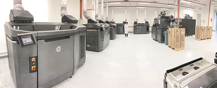 At a Jabil site in Singapore, parts go straight from 3D printing into assembly