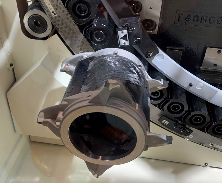 Makino cutting tool for electric vehicle motor housing made via additive manufacturing