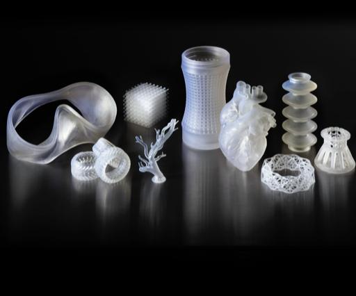 Formlabs' 3D printing material, Elastic Resin.