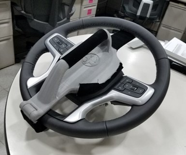 3d printed steering wheel tool at GM