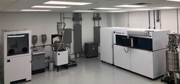 powder bed fusion lab at American Cladding Technologies