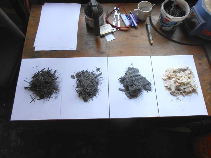 Shredded Composite scrap materials