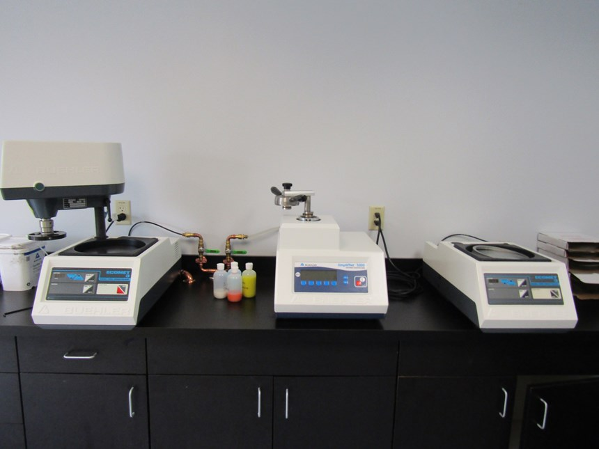 metallographic equipment at Formetrix