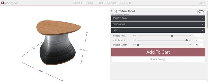 Model No. ordering experience