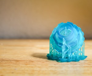 3d printed prototype of Folia Water filtration device made by Makelab
