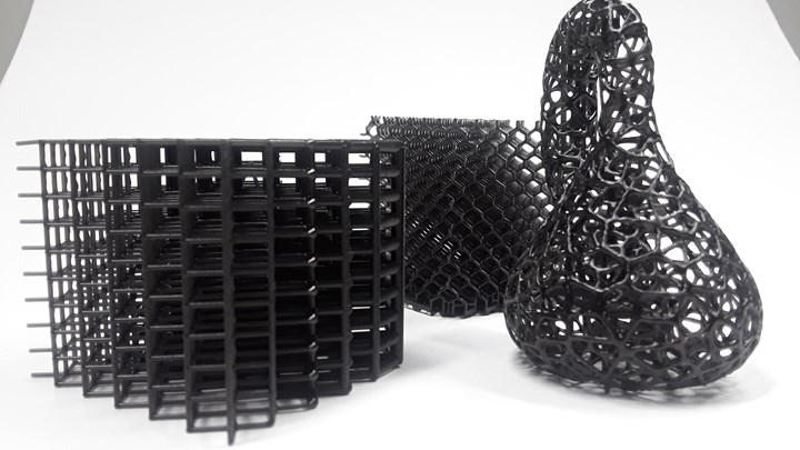 3D printed parts made with a 3D Systems Figure 4 DLP system