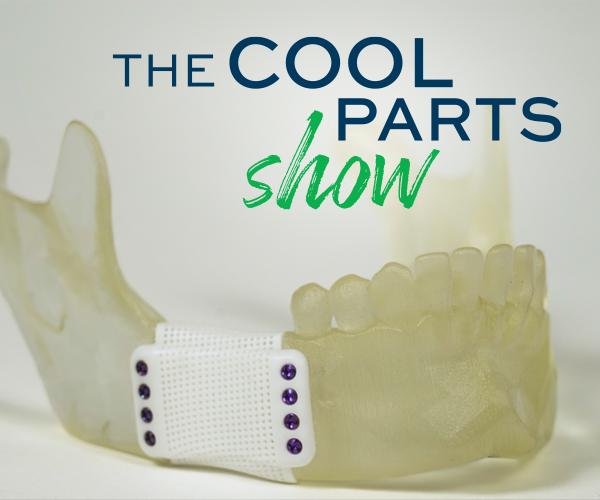 the cool parts show 3D printed bioceramic mandibular cage implant