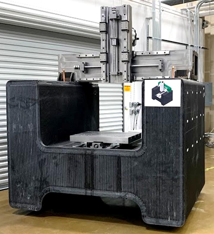 3D-printed machine tool base