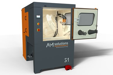 AM Solutions' redesigned S1 surface treatment system