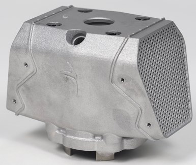 cylinder made via additive manufacturing with significant redesign