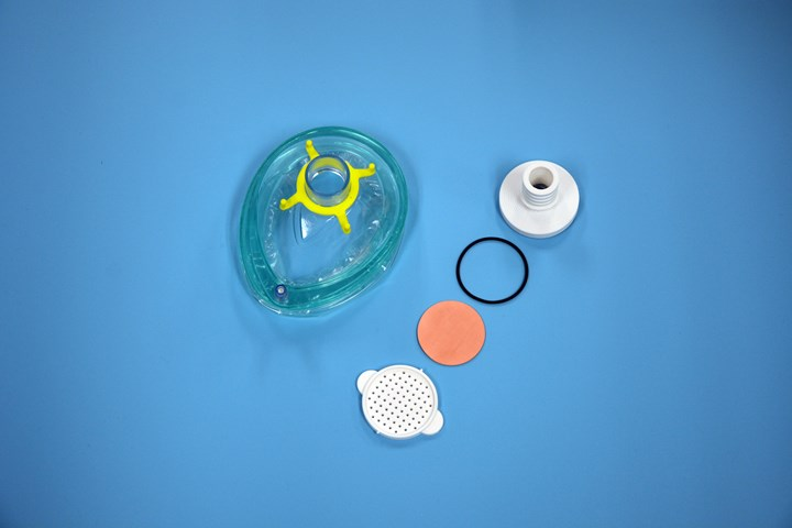 The filter can be printed to fit inside anesthesia masks