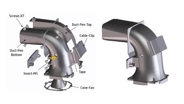 Fast Radius Example 3D-Printed Part