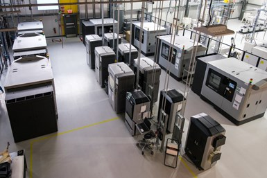 General Motors' AIC includes 24 3D printers, which create polymer and metal solutions using a variety of processes.