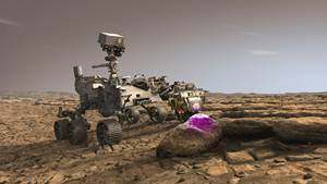 PIXL on the Perseverance Mars rover scanning a rock