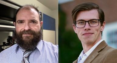 (left to right) AMUG 2021 scholarship winners John Sorvillo and Sean Dobson.