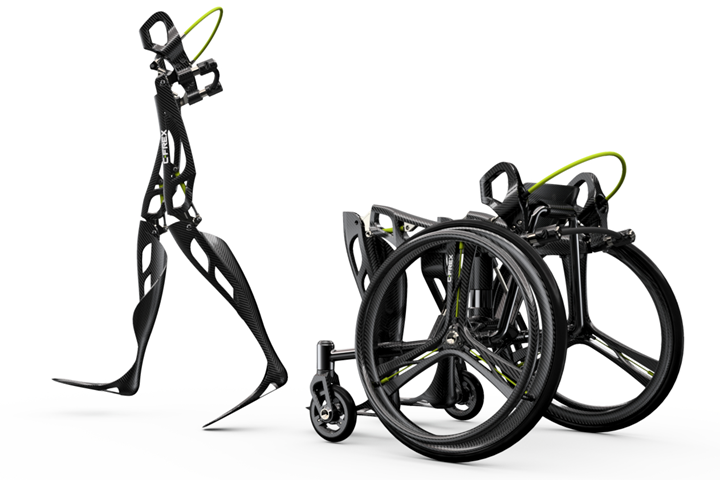 exoskeleton with 3D printed parts