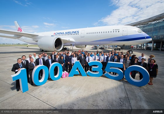 Airbus delivers A350 XWB